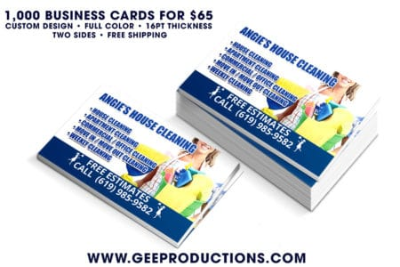Angie's House Cleaning – Business Cards