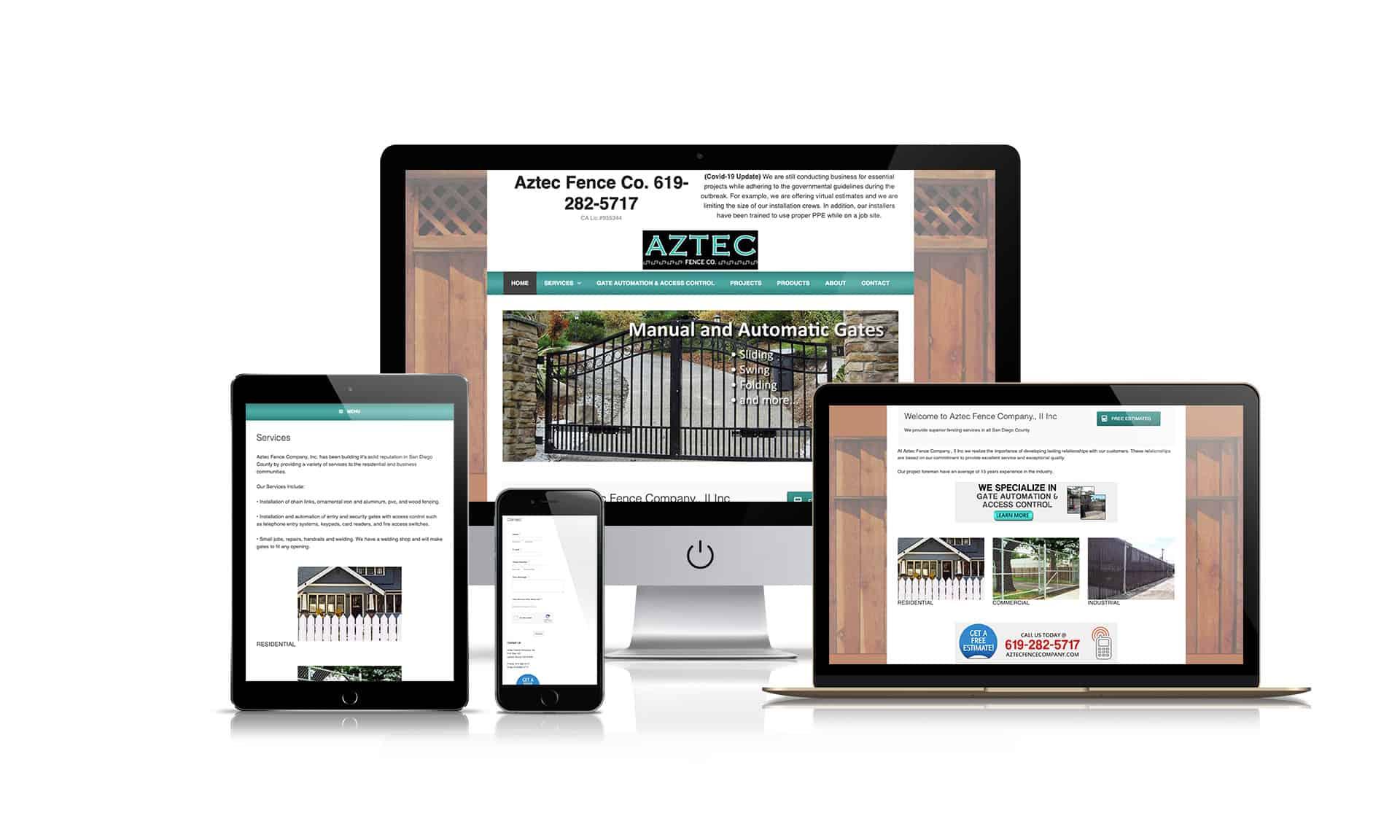 Aztec Fence Company - Website Design