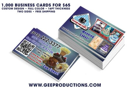 European Cake Gallery – Business Cards