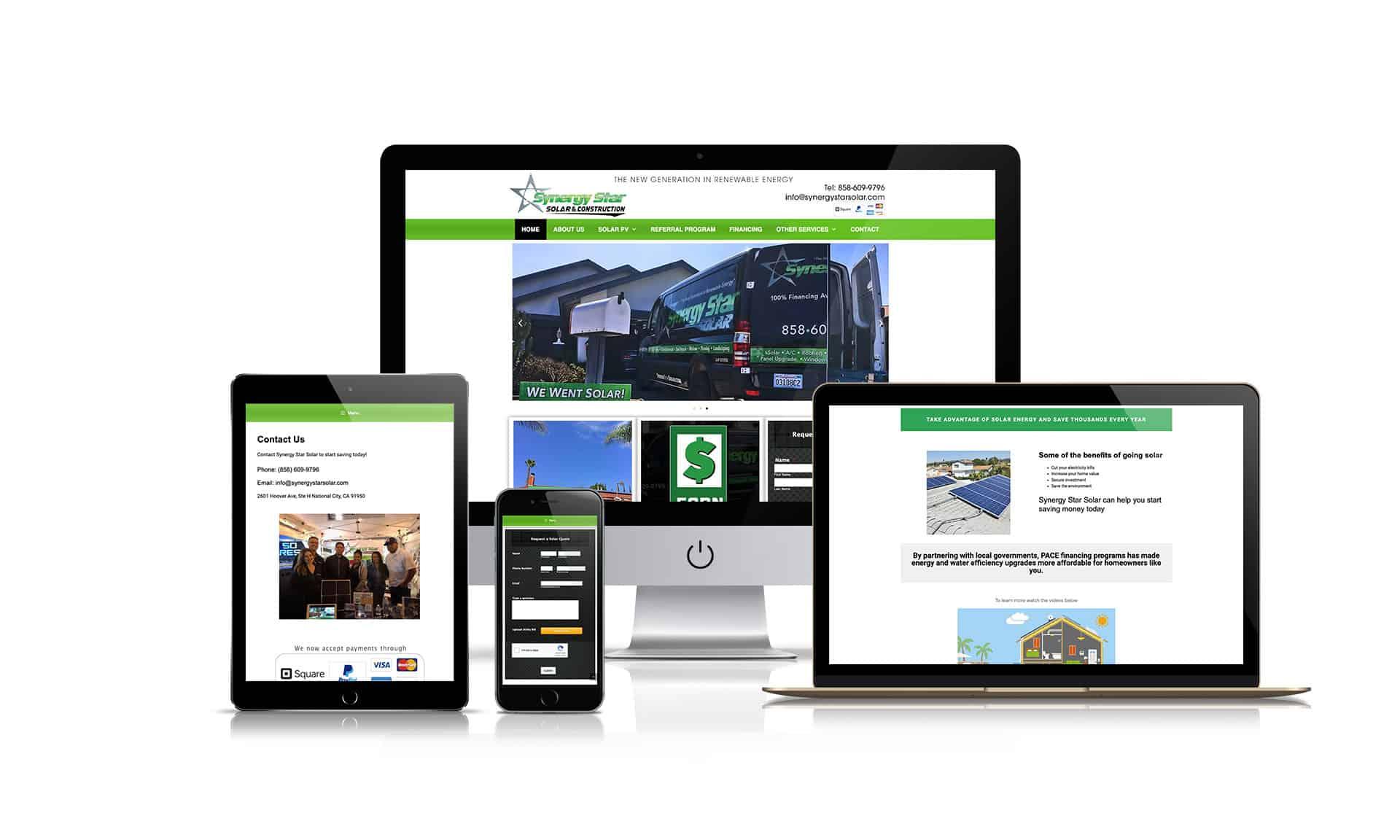 Synergy Star Inc - Website Design