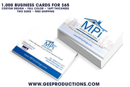 MPi Property Inspections – Business Cards