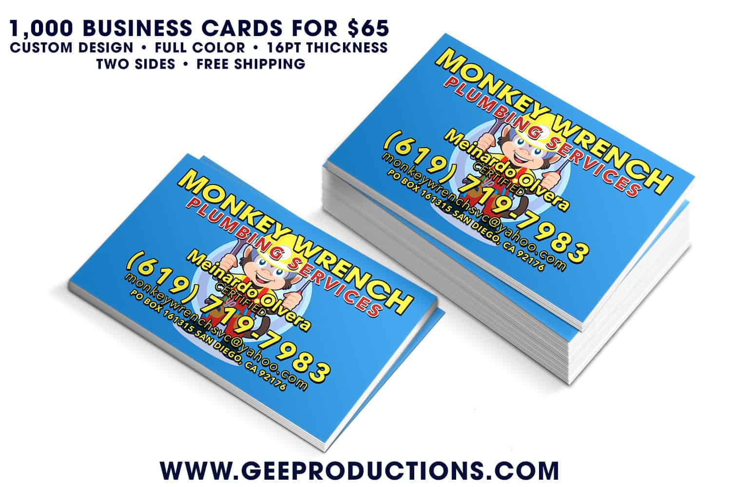 Monkey wrench plumbing services business cards monkey wrench plumbing services business cards reheart Image collections