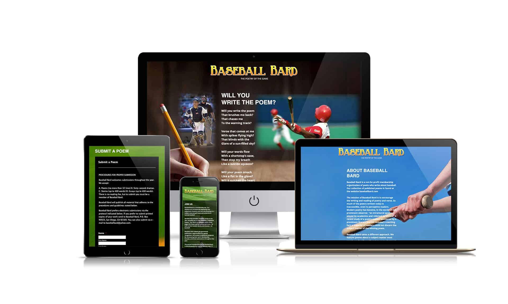 Baseball Bard - Website Design