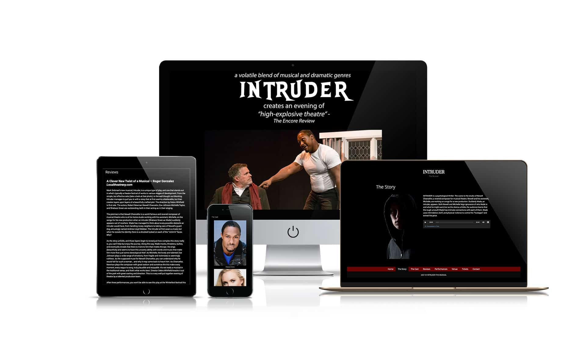 Intruder The Musical - Website Design
