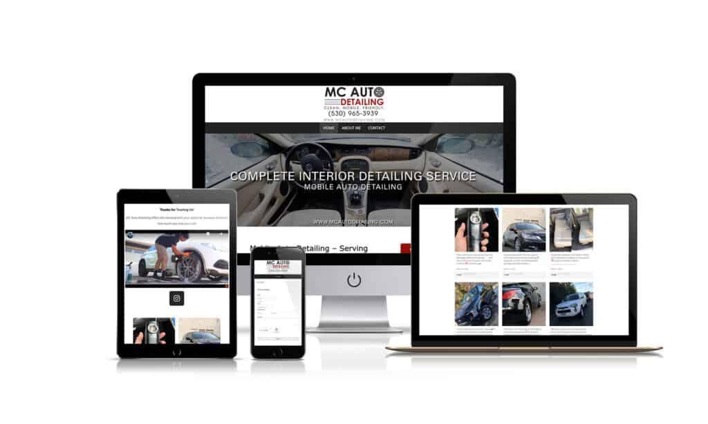 MC Auto Detailing - Website Design