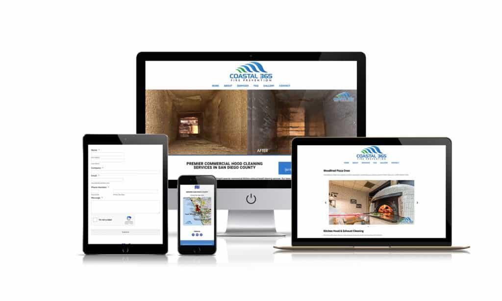 Coastal 365 Fire Prevention - Website Design
