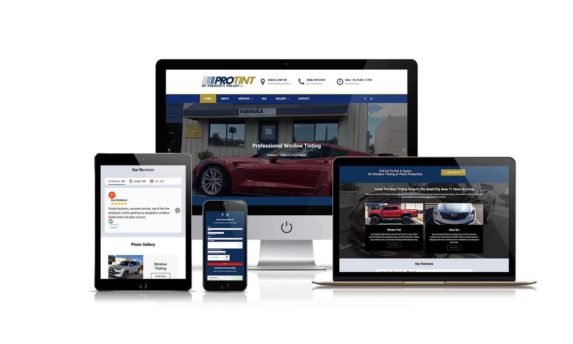 Protint Of Prescott Valley LLC - Website Design