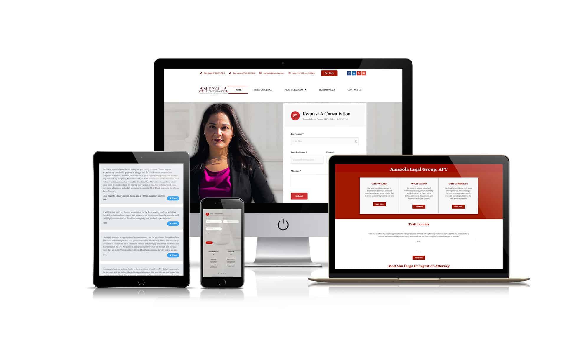 Amezola Legal Group, APC - Website Design
