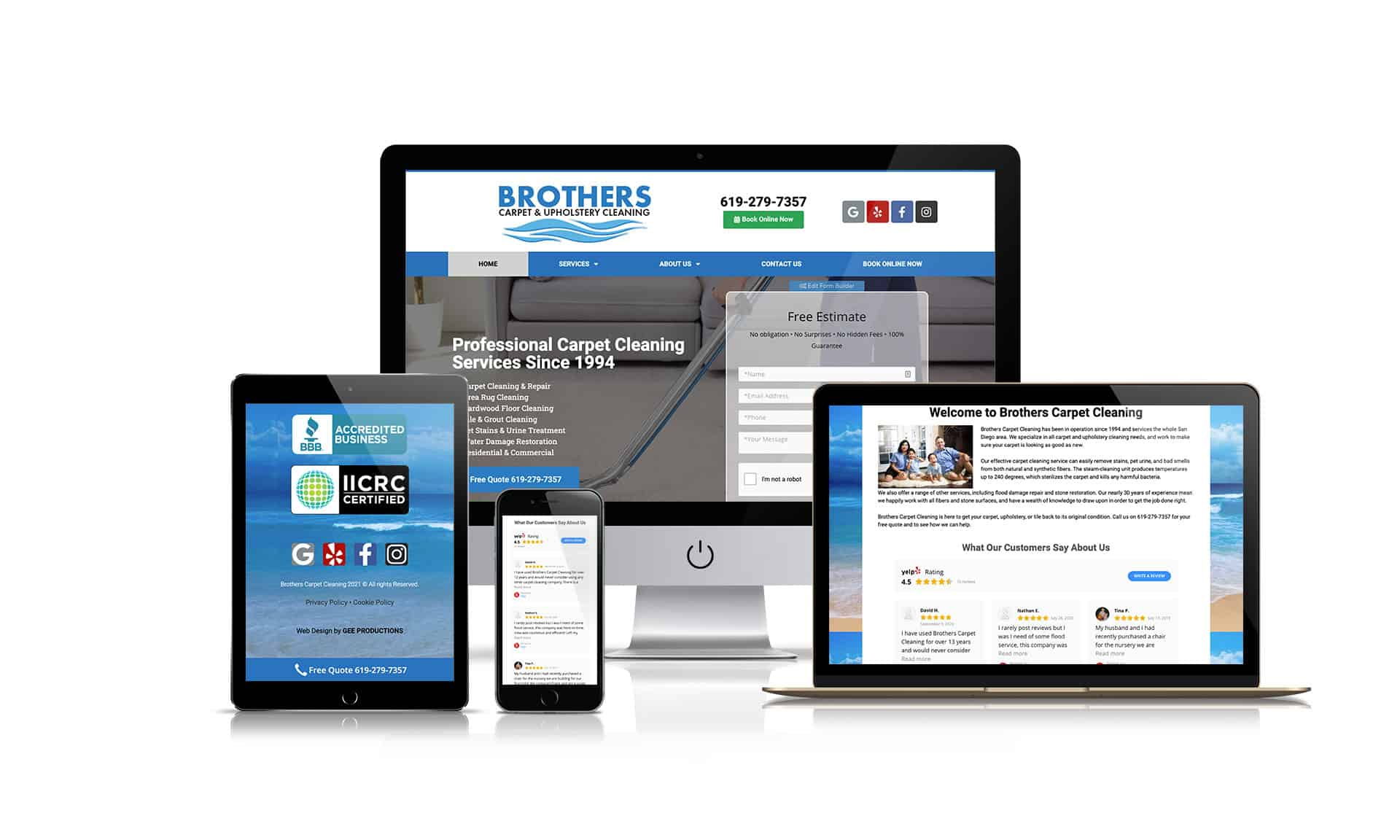 Brothers Carpet Upholstery-Cleaning - Website Design