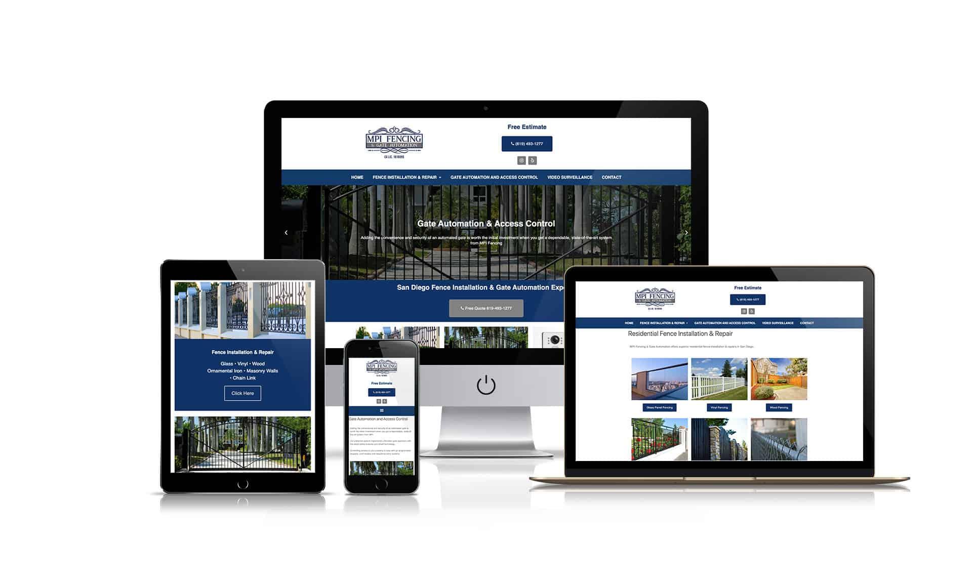 MPI Fencing Gate Automation - Website Design
