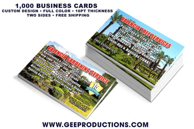 Valencia Gardening Service - Business Cards