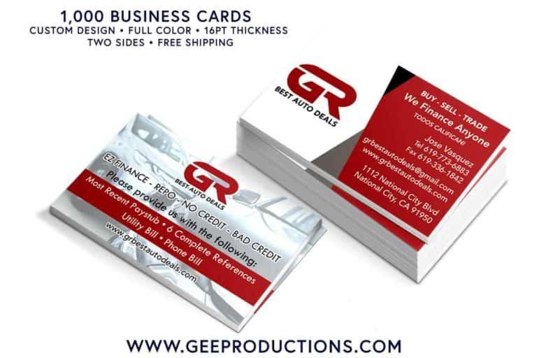 GR Best Auto Deals - Business Card Design