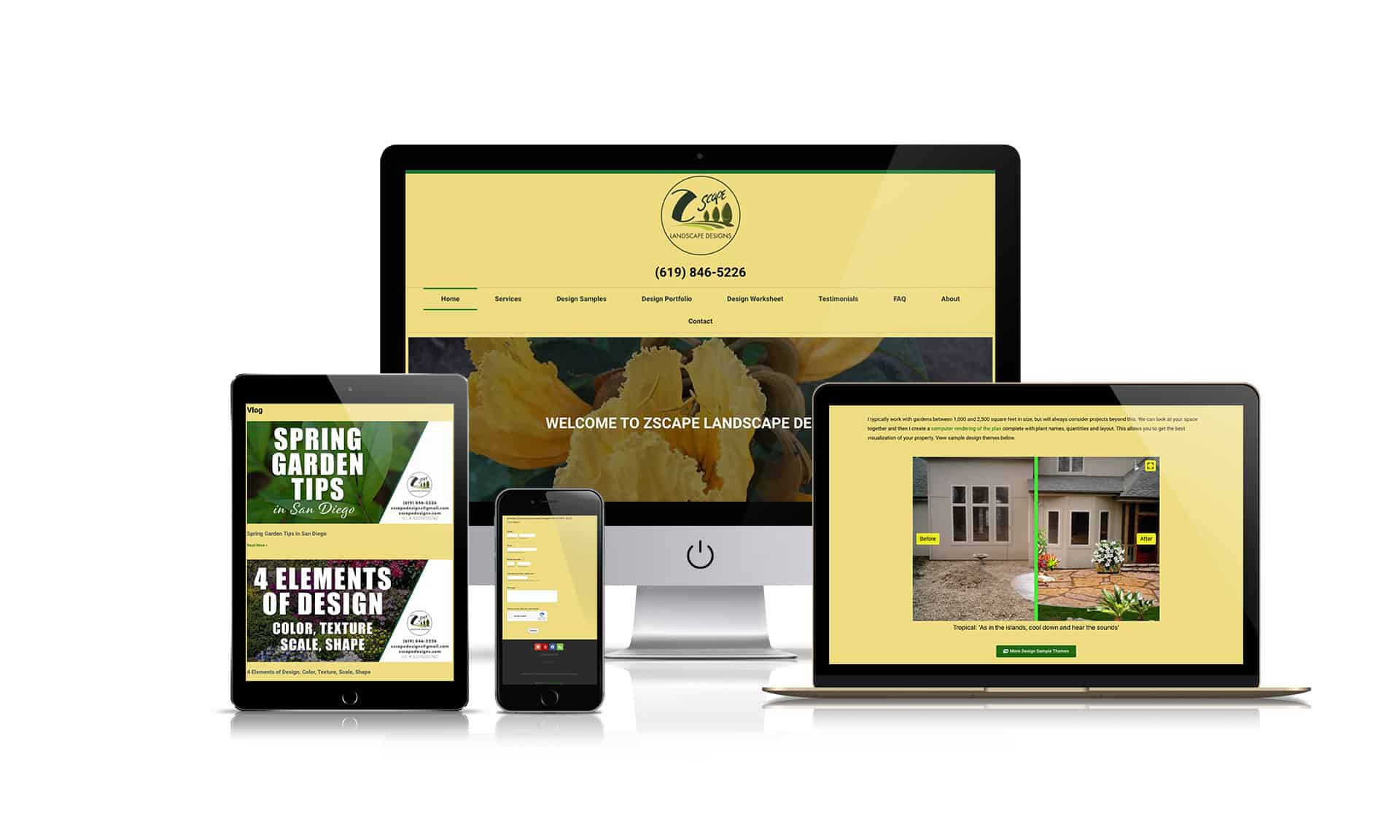Zscape Landscape Designs- Website Design