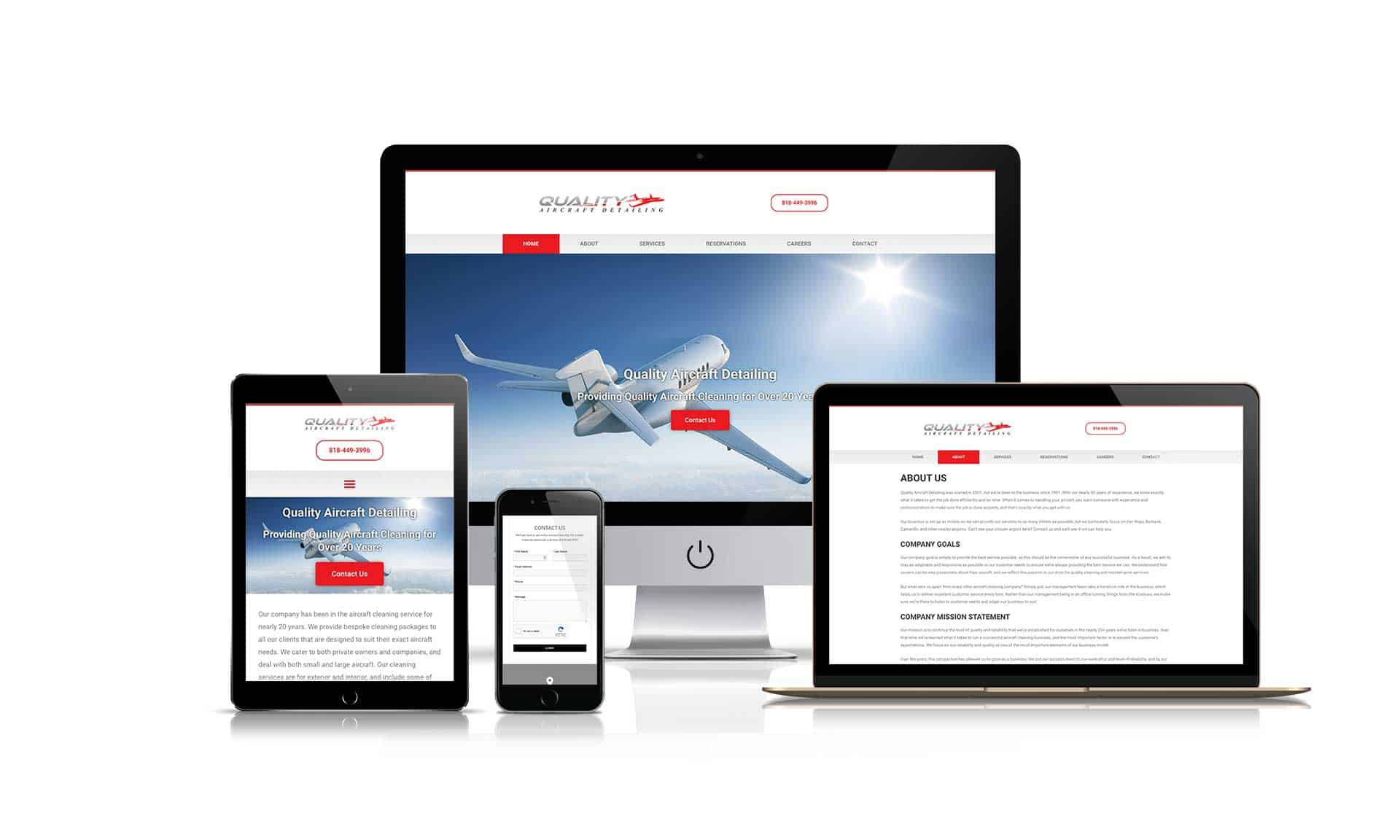 Quality Aircraft Detailing - Website Design