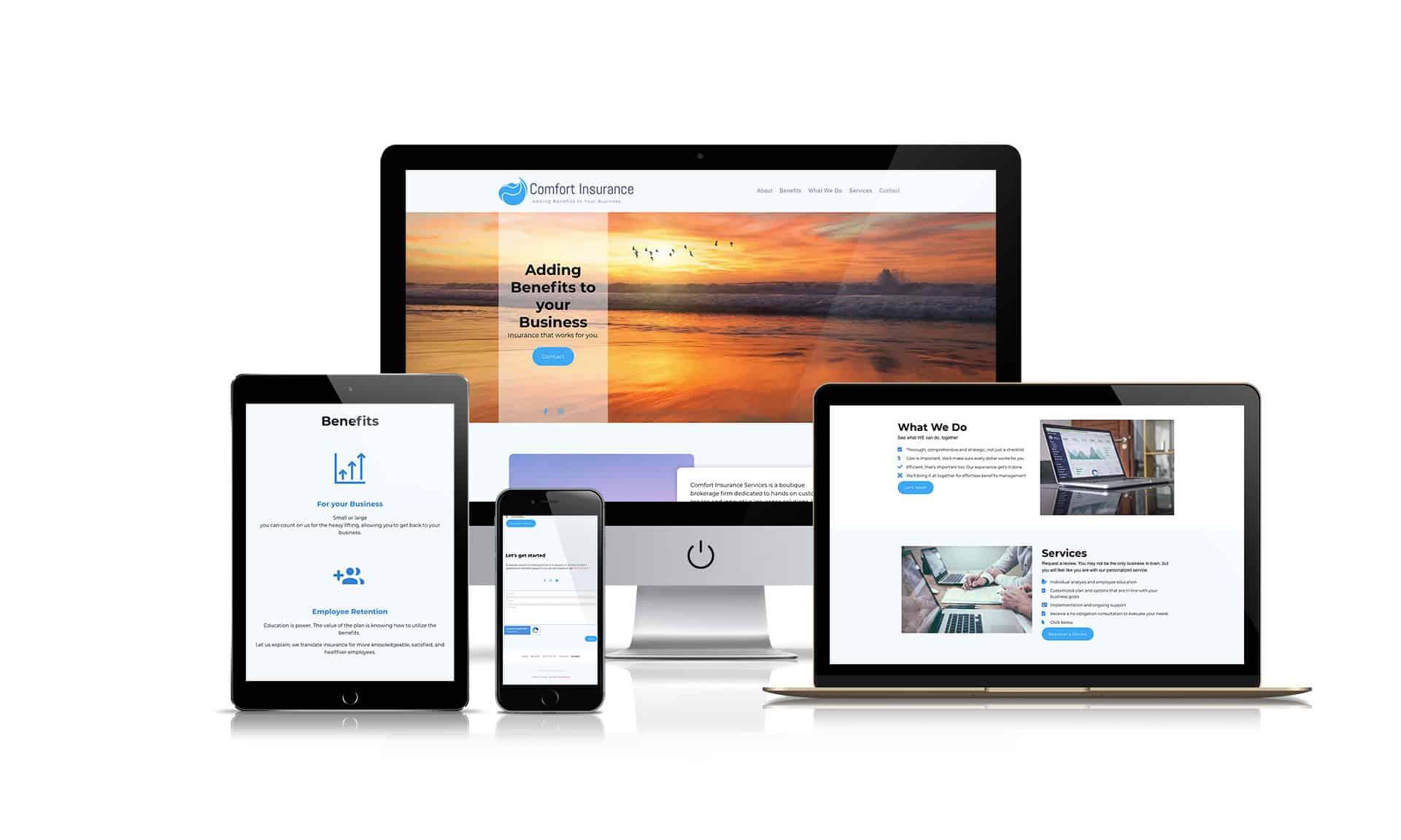 Comfort Insurance Services - Website Design