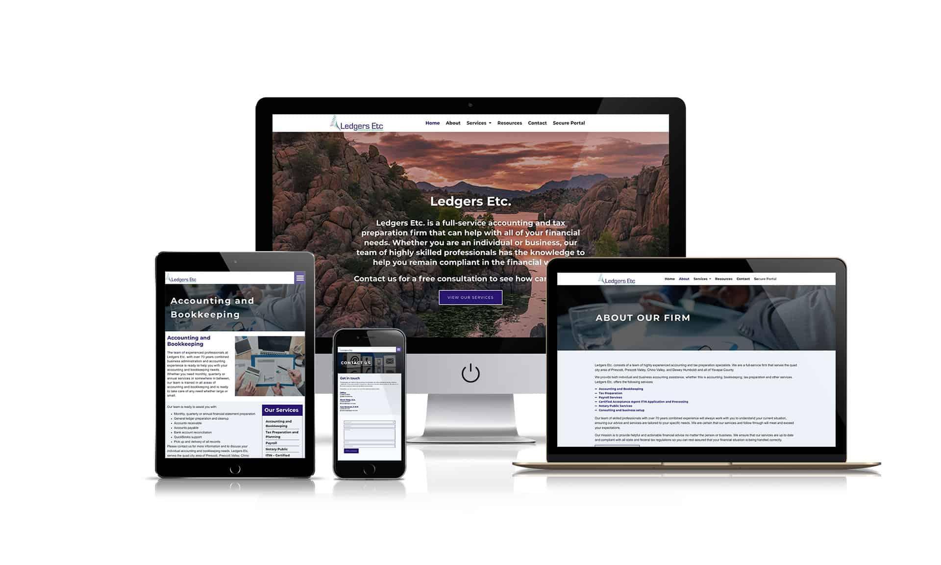 Ledgers Etc - Website Design