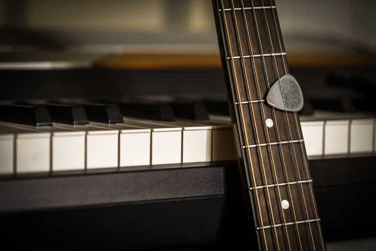 Guitar, Guitar Pick and Piano